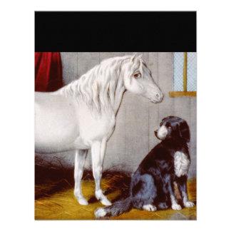 Curtidor e Ives mi vintage del potro y del perro Comunicados