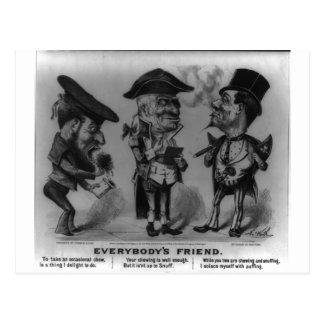 Curtidor y Ives 1876 Postal