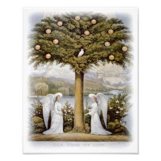 """Curtidor y Ives """"el árbol impresión de la vida"""" Cojinete"""