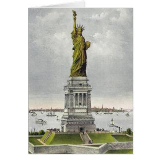 Curtidor y Ives - tarjeta de felicitación - estatu