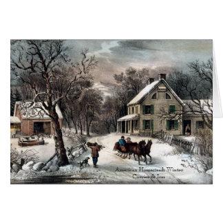 Curtidor y Ives - tarjeta de felicitación - invier