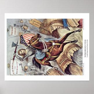 Curtidor y litografía de Ives: La guerra santa de Póster