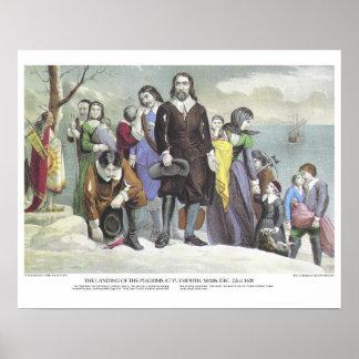 Curtidor y litografía de Ives: Peregrinos del Póster