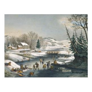 Curtidor y mañana del invierno de Ives Tarjetas Postales