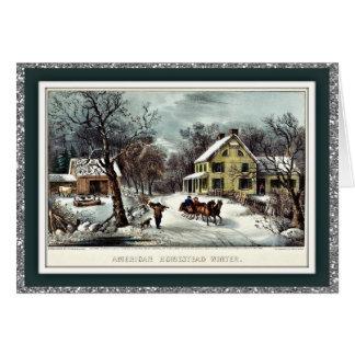 Curtidor y tarjetas de Navidad de encargo del vint