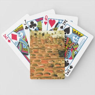 Curtidurías tradicionales, Fes, Marruecos, África  Baraja Cartas De Poker