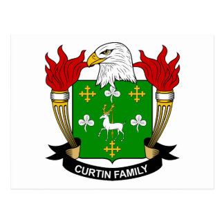 Curtin Family Crest Postcard