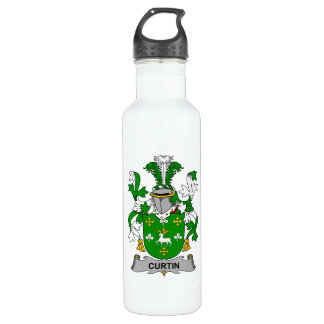 Curtin Family Crest Stainless Steel Water Bottle