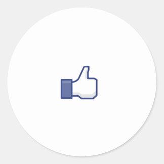 curtir Facebook Adesivos