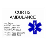 Curtis Ambulance Business Cards