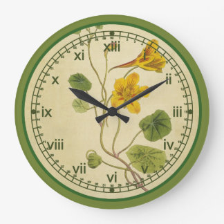 Curtis Botanical Wall Clock in 3 Styles