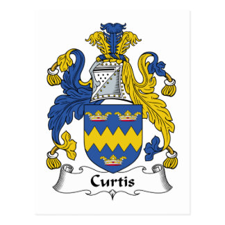 Curtis Family Crest Postcard