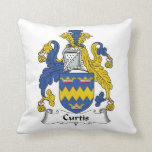 Curtis Family Crest Throw Pillow
