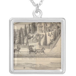 Curtis farm, Poirier Tract Silver Plated Necklace