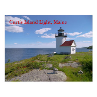 Curtis Island Light, Maine Postcard