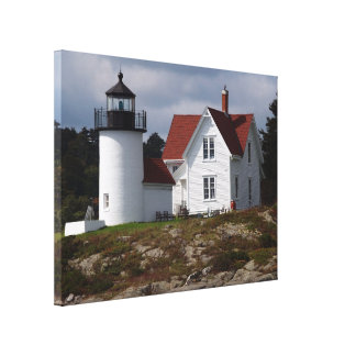 Curtis Island Lighthouse Stretched Canvas Print