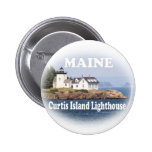 Curtis Island Lighthouse Pinback Buttons