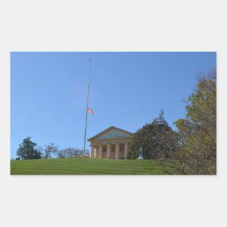 Curtis-Lee Mansion (Arlington House) Rectangular Sticker