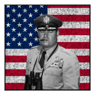 Curtis Lemay and The US Flag Poster
