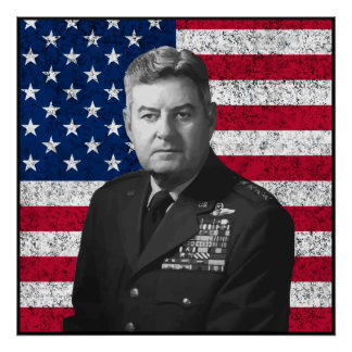 Curtis Lemay y la bandera americana -- Frontera Posters