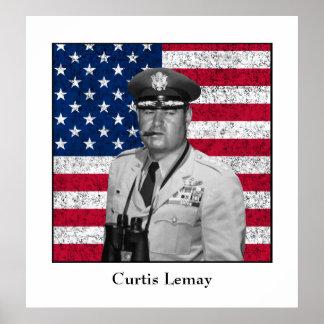 Curtis Lemay y la bandera americana Posters