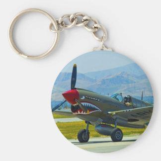 Curtis P-40 Warhawk Llavero Redondo Tipo Pin