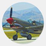 Curtis P-40 Warhawk Pegatina Redonda