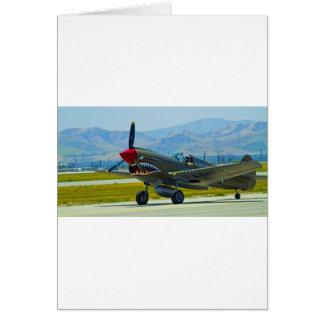 Curtis P-40 Warhawk Tarjeta De Felicitación