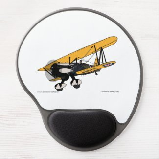 Curtis P-6E Hawk (1929) Gel Mouse Pad