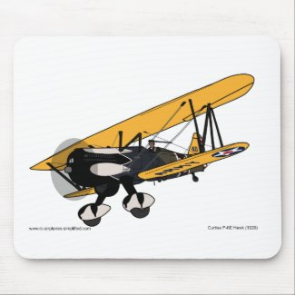 Curtis P-6E Hawk (1929) Mouse Pad