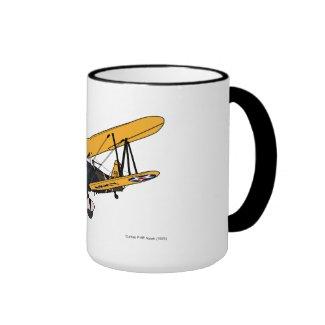 Curtis P-6E Hawk (1929) Ringer Coffee Mug