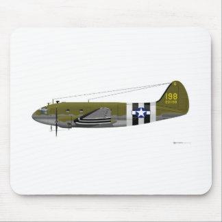 Curtiss C-46 Commando Invasion Stripes Mouse Pad