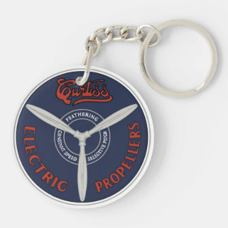 Curtiss Electric Propeller Keychain 2 Sided