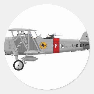 Curtiss F8C-4 Helldiver A5433 Classic Round Sticker