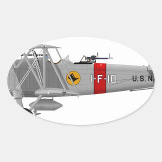Curtiss F8C-4 Helldiver A5433 Oval Sticker