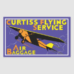 Curtiss Flying Service Rectangle Sticker