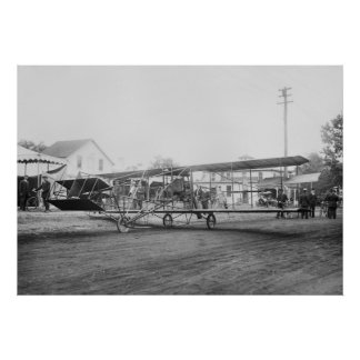 Curtiss-Herring Flying Machine, early 1900s Poster