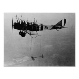 Curtiss JN-4 Jenny Aircraft With Model Wing Poster