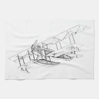 Curtiss JN-4 Jenny Float Plane Kitchen Towels
