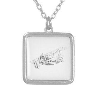 Curtiss JN-4 Jenny Float Plane Personalized Necklace
