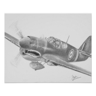 Curtiss P40 poster