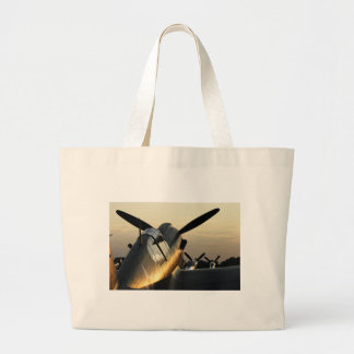Curtiss P-40 AT Sunset Large Tote Bag