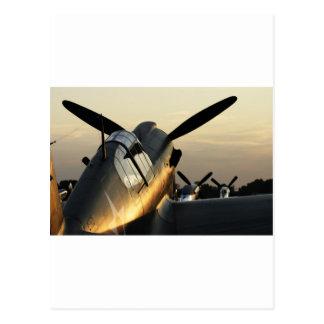Curtiss P-40 AT Sunset Postcard