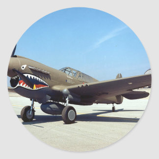 curtiss P-40 tomahawk Classic Round Sticker