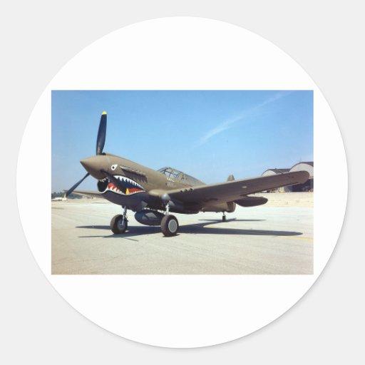 curtiss P-40 tomahawk Round Sticker
