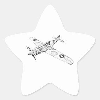 Curtiss P-40 Warhawk Aircraft Star Sticker
