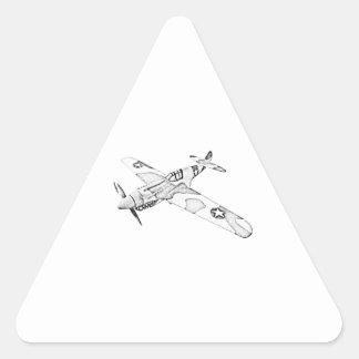 Curtiss P-40 Warhawk Aircraft Triangle Sticker