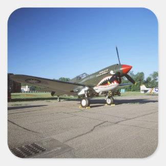 Curtiss P-40 Warhawk, at Minnesota CAF Air Show Square Sticker
