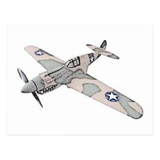 Curtiss P-40 Warhawk Tarjeta Postal