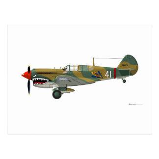 Curtiss P-40 Warhawk Postales
